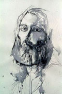 Self Portrait, 32x22, india ink, 1974